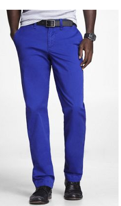 Blue Men Pants
